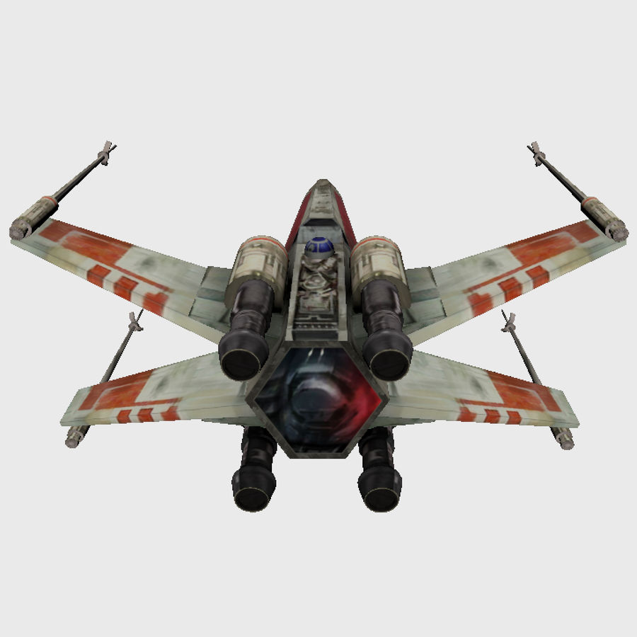 X Wing royalty-free 3d model - Preview no. 4