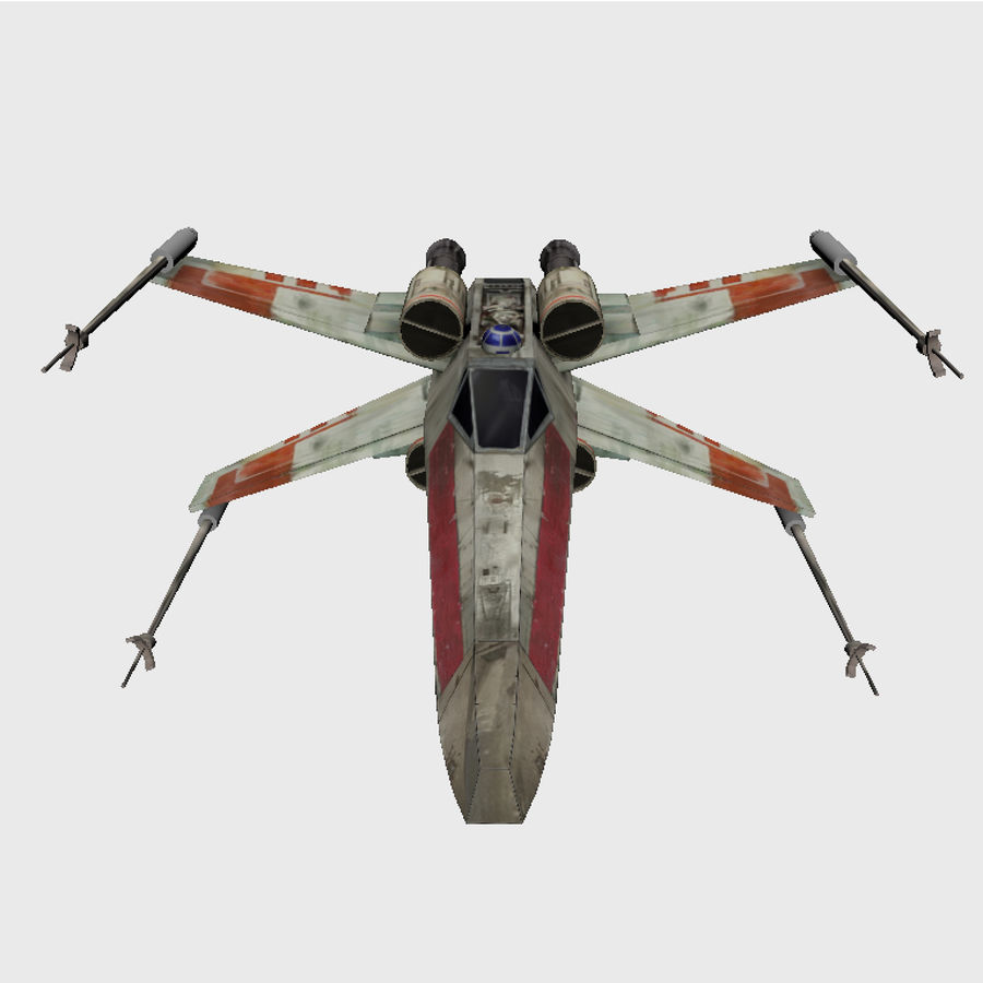 X Wing royalty-free 3d model - Preview no. 2