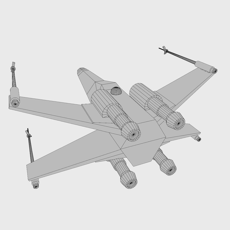 X Wing royalty-free 3d model - Preview no. 6