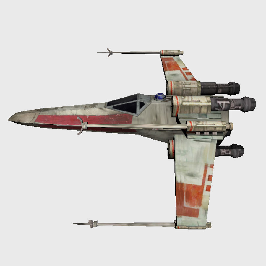X Wing royalty-free 3d model - Preview no. 3