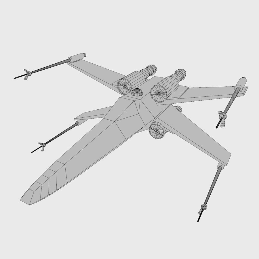 X Wing royalty-free 3d model - Preview no. 5