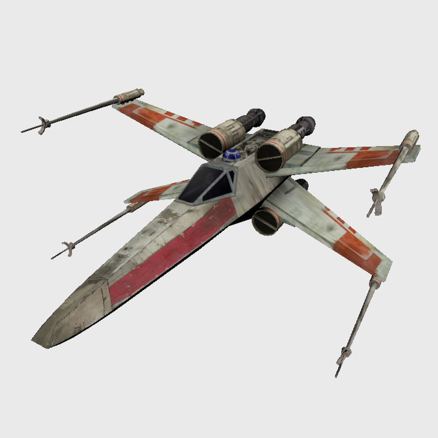 X Wing royalty-free 3d model - Preview no. 1