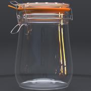 Empty jar 3d model