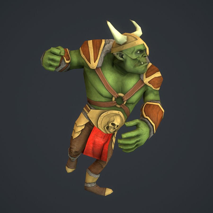 Низкополигональный персонаж орков royalty-free 3d model - Preview no. 4
