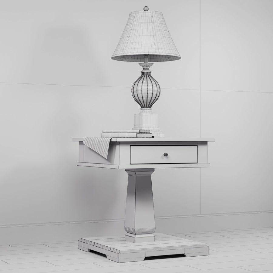 Tafel Zalarah met lamp Ondreya royalty-free 3d model - Preview no. 6