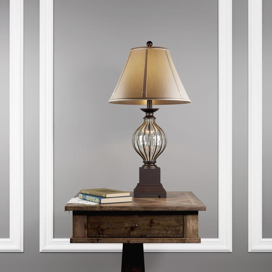 Tafel Zalarah met lamp Ondreya royalty-free 3d model - Preview no. 3