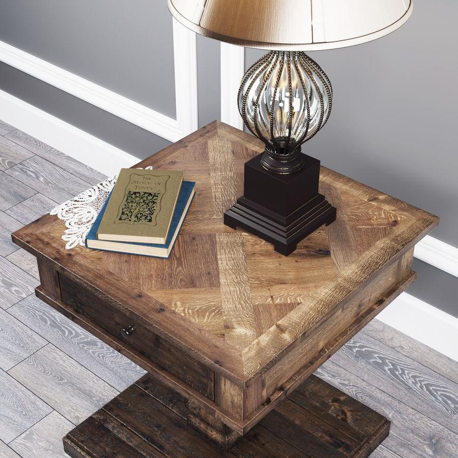 Tafel Zalarah met lamp Ondreya royalty-free 3d model - Preview no. 4