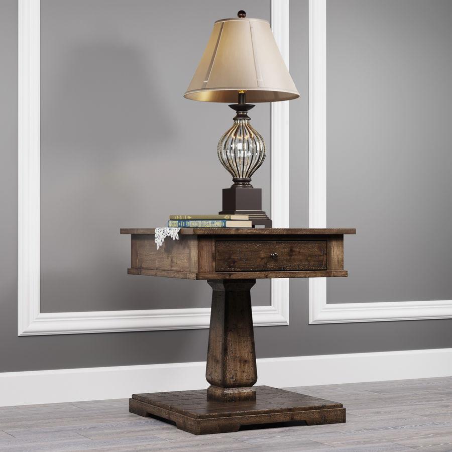 Tafel Zalarah met lamp Ondreya royalty-free 3d model - Preview no. 2