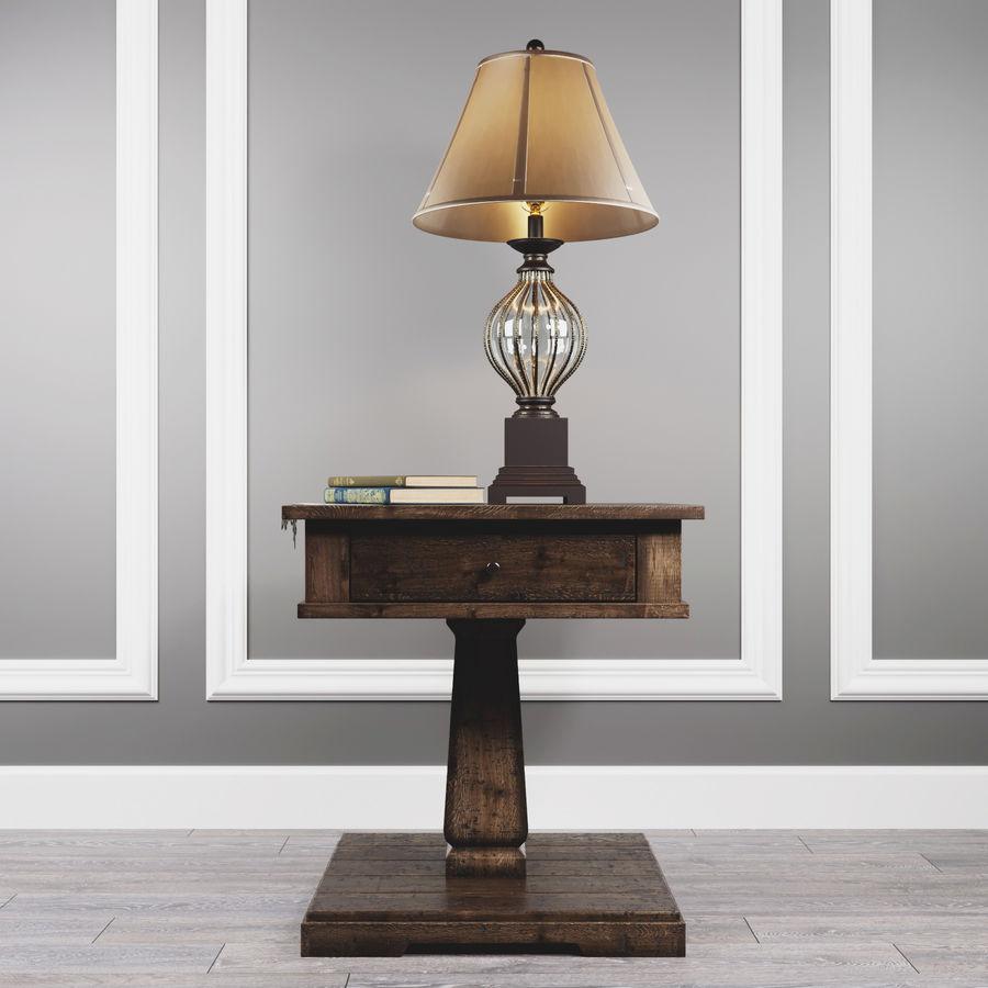 Tafel Zalarah met lamp Ondreya royalty-free 3d model - Preview no. 1