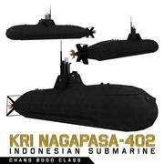 Changbogo Class Submarine 3d model
