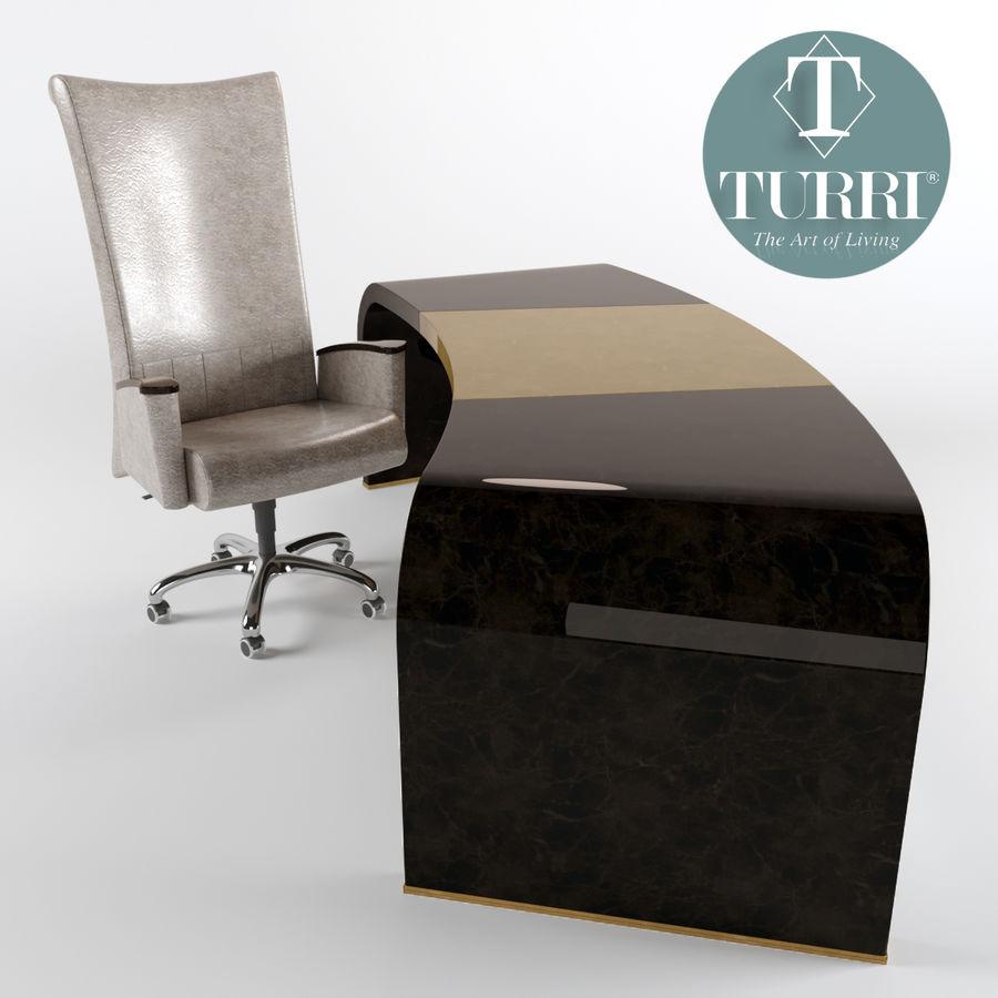 Bord & Stol Turri royalty-free 3d model - Preview no. 3