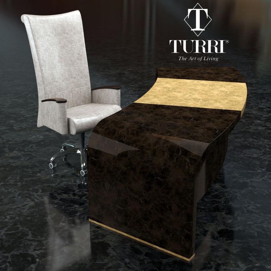 Bord & Stol Turri royalty-free 3d model - Preview no. 1