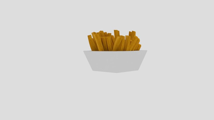 Pommes frites royalty-free 3d model - Preview no. 3