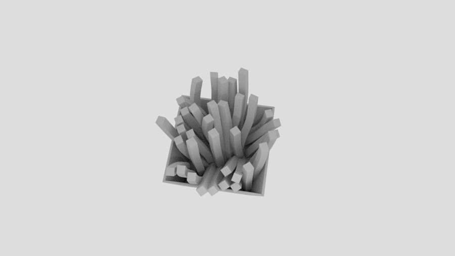 Pommes frites royalty-free 3d model - Preview no. 5