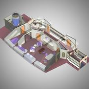 VIP-rum för Poser 3d model
