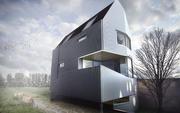 rendu de scène de maison brumeuse 3d model