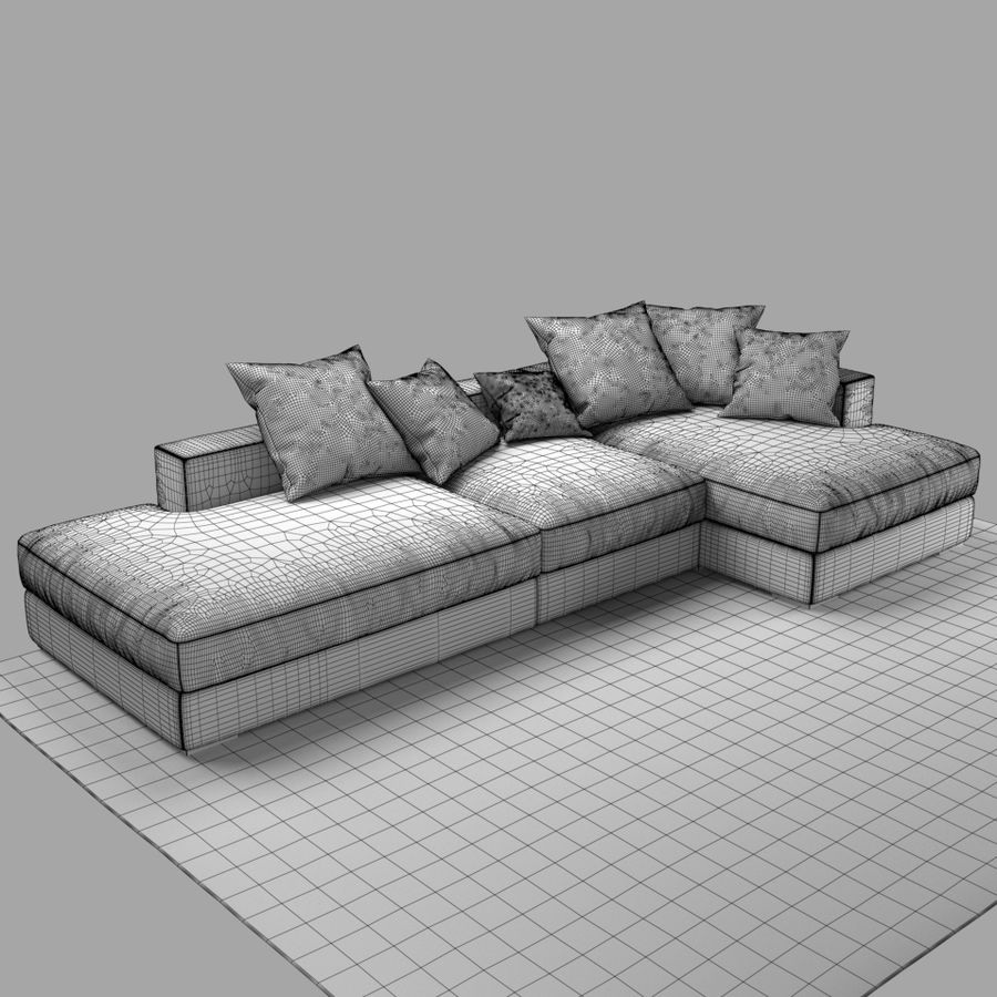 soffa BoConcept Cenova GY52 royalty-free 3d model - Preview no. 9