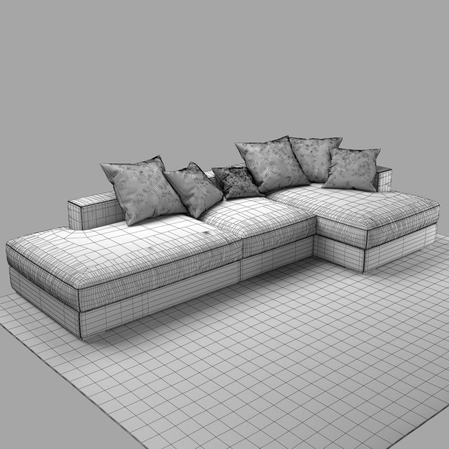 soffa BoConcept Cenova GY52 royalty-free 3d model - Preview no. 8