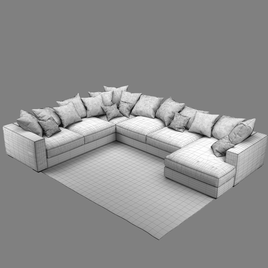 soffa BoConcept Cenova IN52 royalty-free 3d model - Preview no. 8