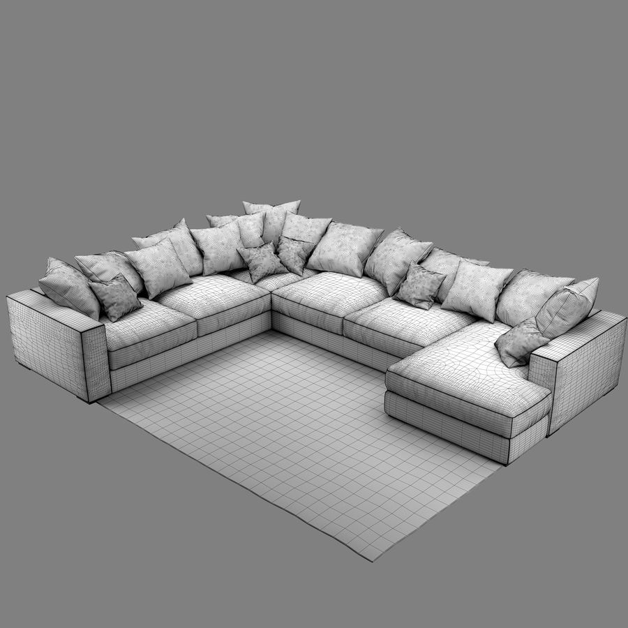 soffa BoConcept Cenova IN52 royalty-free 3d model - Preview no. 9