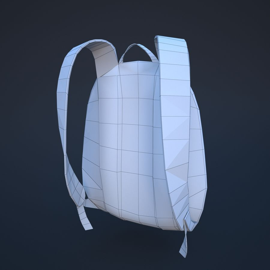 backpack royalty-free 3d model - Preview no. 10