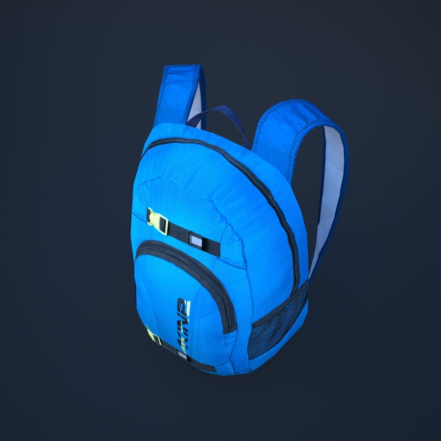 backpack royalty-free 3d model - Preview no. 7