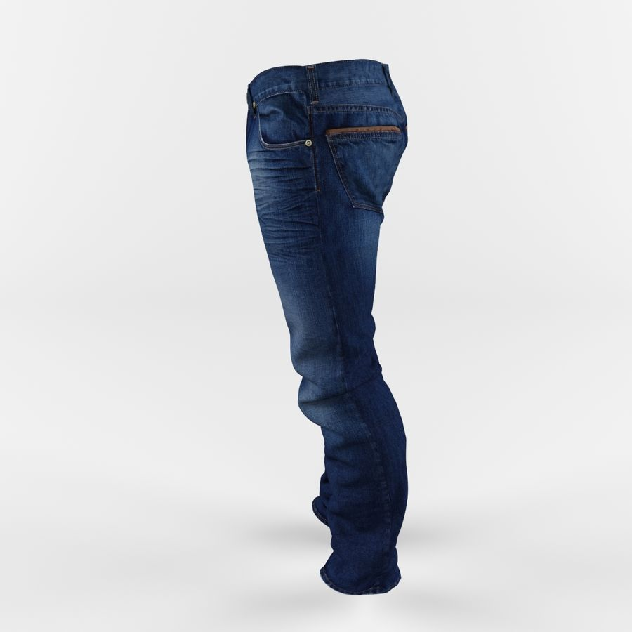 Jeans royalty-free 3d model - Preview no. 3