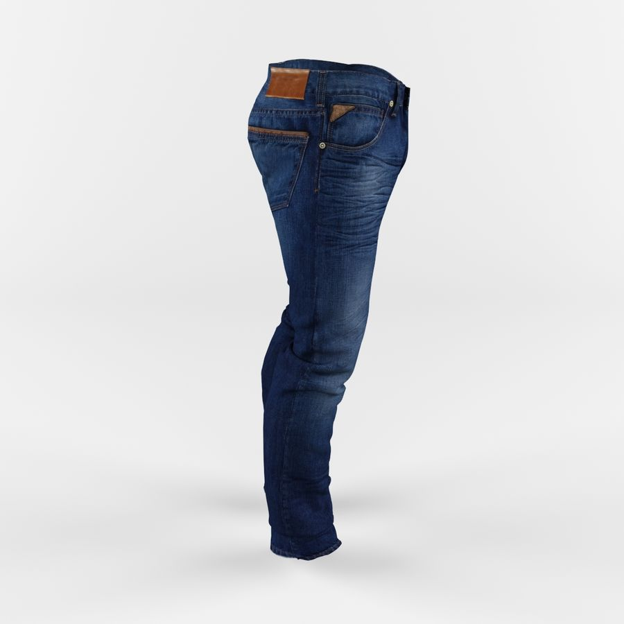 Jeans royalty-free 3d model - Preview no. 4