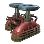 Verlassene industrielle Retro-Ausrüstung 3d model