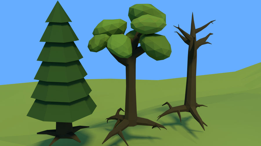 Low poly forest assets complete pack royalty-free 3d model - Preview no. 9