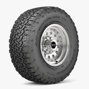 Offroad Rad und Reifen 5 3d model