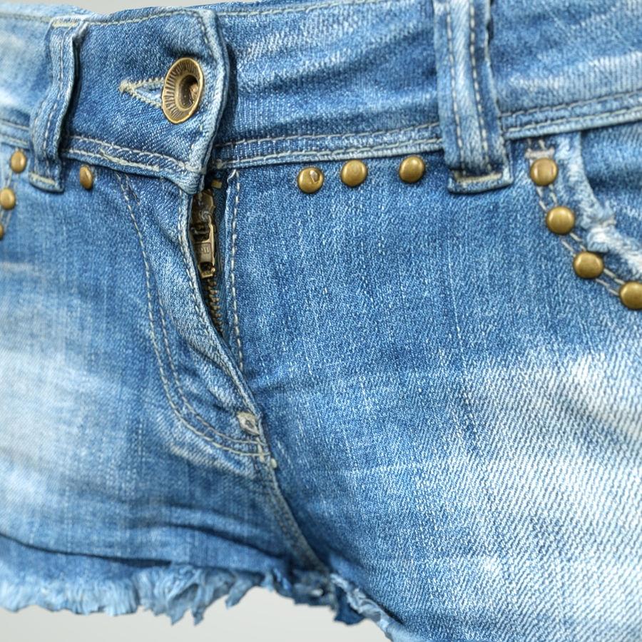 Jeans cortos y top royalty-free modelo 3d - Preview no. 5