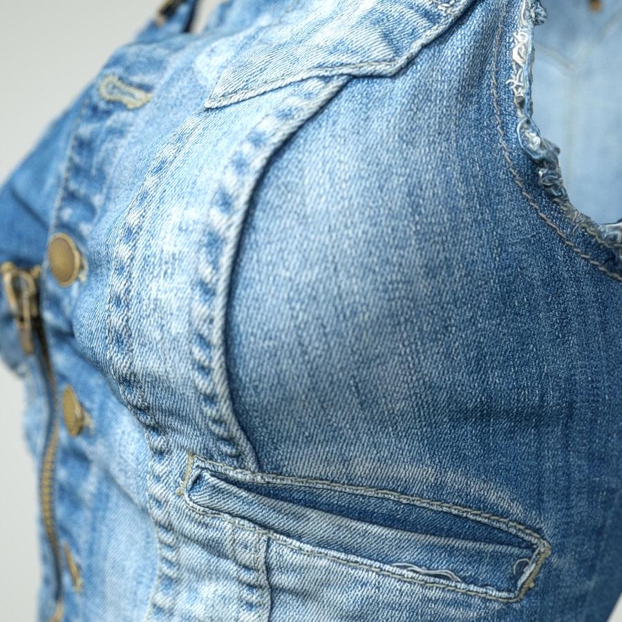 Jeans cortos y top royalty-free modelo 3d - Preview no. 4