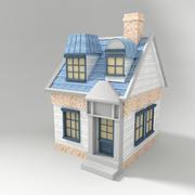 Cabaña de dibujos animados modelo 3d