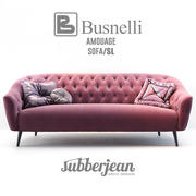 Busnelli Amouage Sofa SL 3d model
