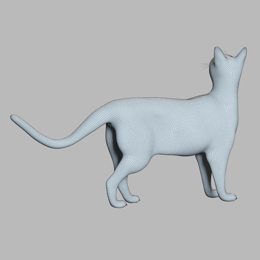 Gato preto royalty-free 3d model - Preview no. 10