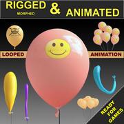 Ballons animés 3d model