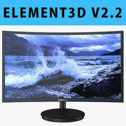E3D - Samsung CFG70 Curved Gaming Monitor 27 Inch 3d model