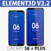 Element 3D V2.2 GALAXY S8 + S8 Plus 3d model