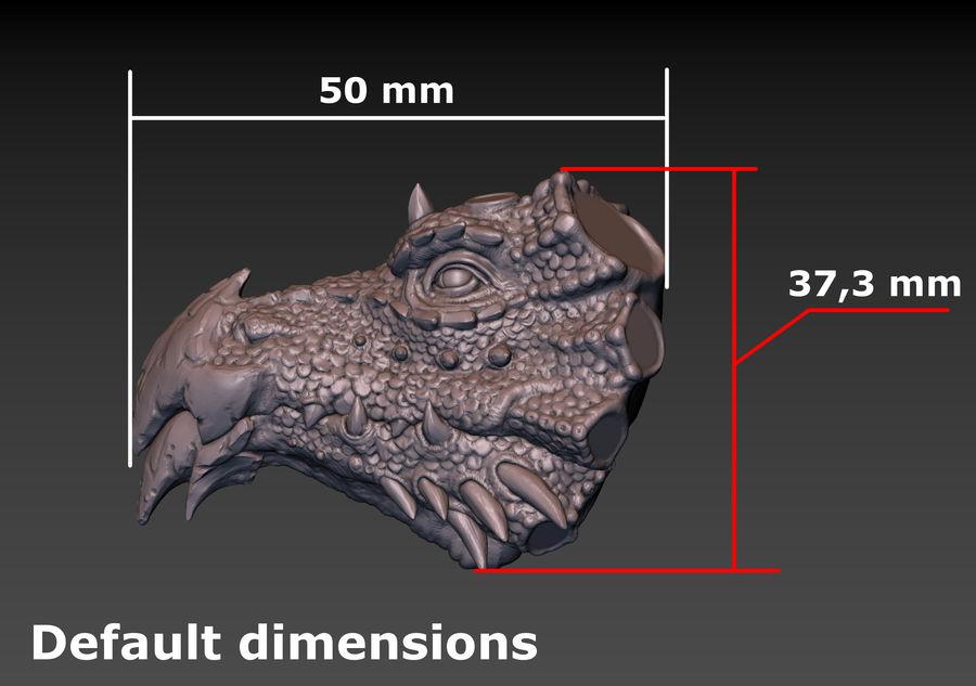 드래곤 헤드 (3D 프린트 준비) royalty-free 3d model - Preview no. 21