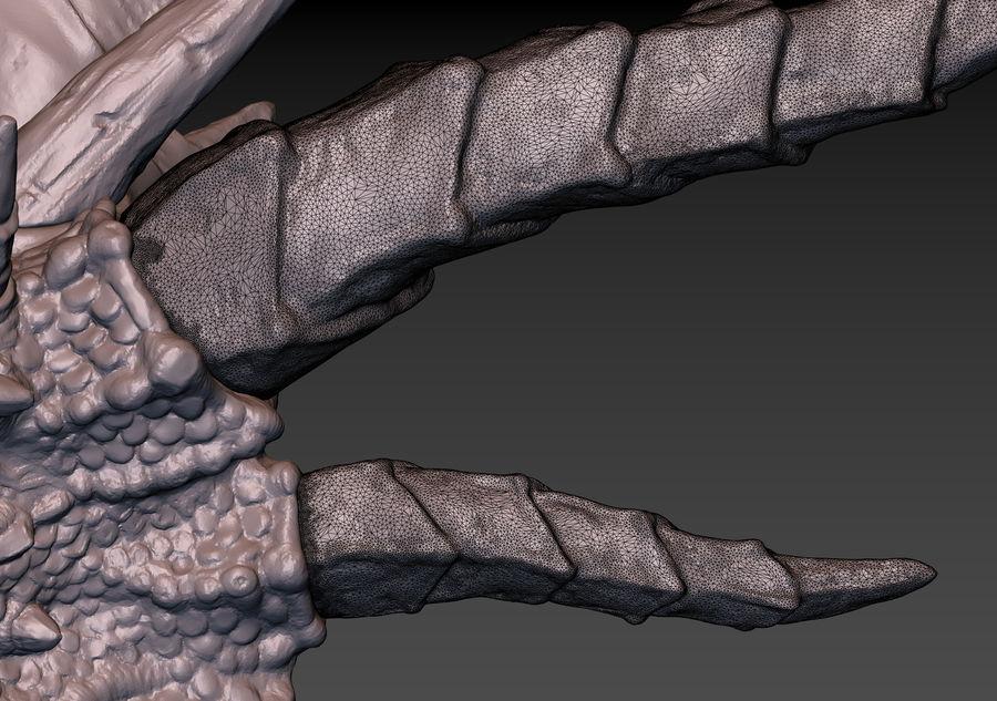 드래곤 헤드 (3D 프린트 준비) royalty-free 3d model - Preview no. 17