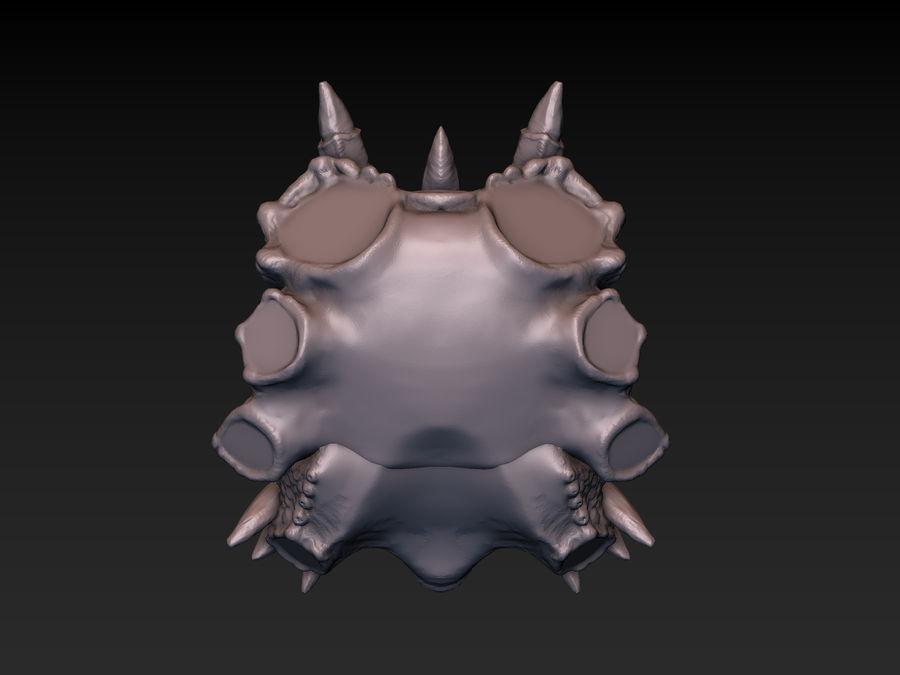 드래곤 헤드 (3D 프린트 준비) royalty-free 3d model - Preview no. 20