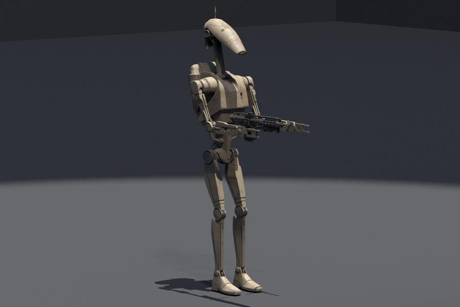 Battle Droid royalty-free 3d model - Preview no. 1