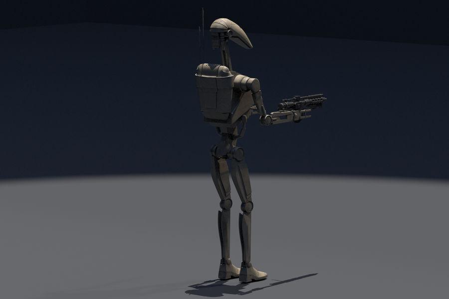 Battle Droid royalty-free 3d model - Preview no. 4