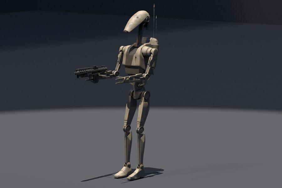 Battle Droid royalty-free 3d model - Preview no. 2