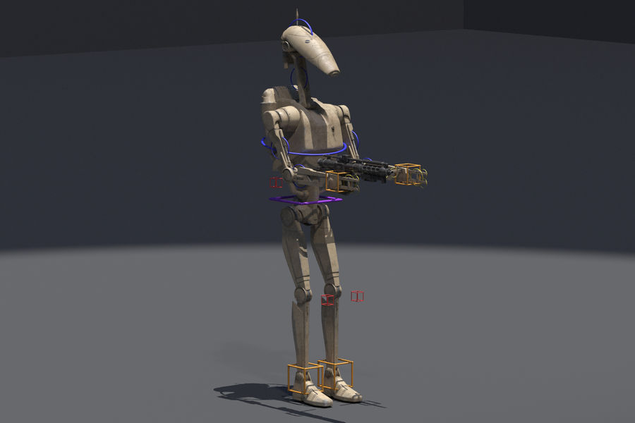 Battle Droid royalty-free 3d model - Preview no. 6