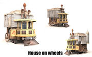 Dom na kółkach 3d model