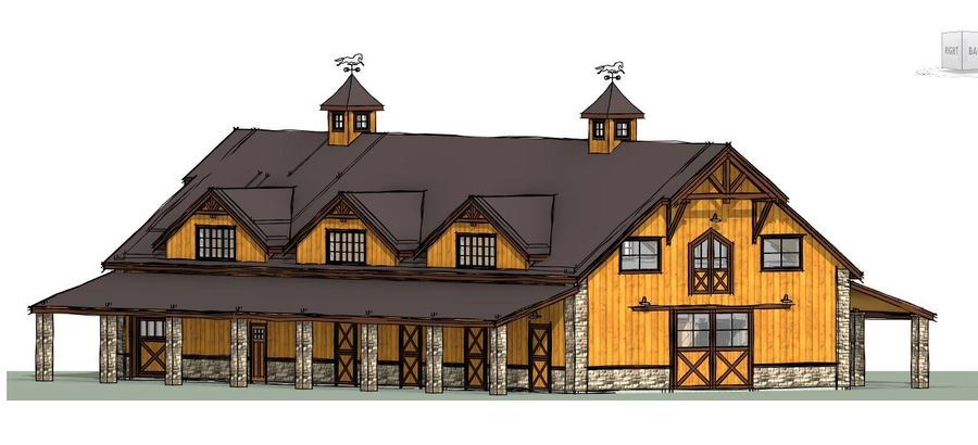 Equestrian Facility 588 royalty-free 3d model - Preview no. 5