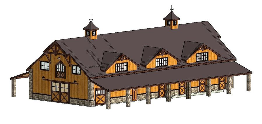 Equestrian Facility 588 royalty-free 3d model - Preview no. 1