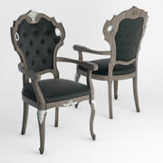 七位Sedie Alcide扶手椅 3d model
